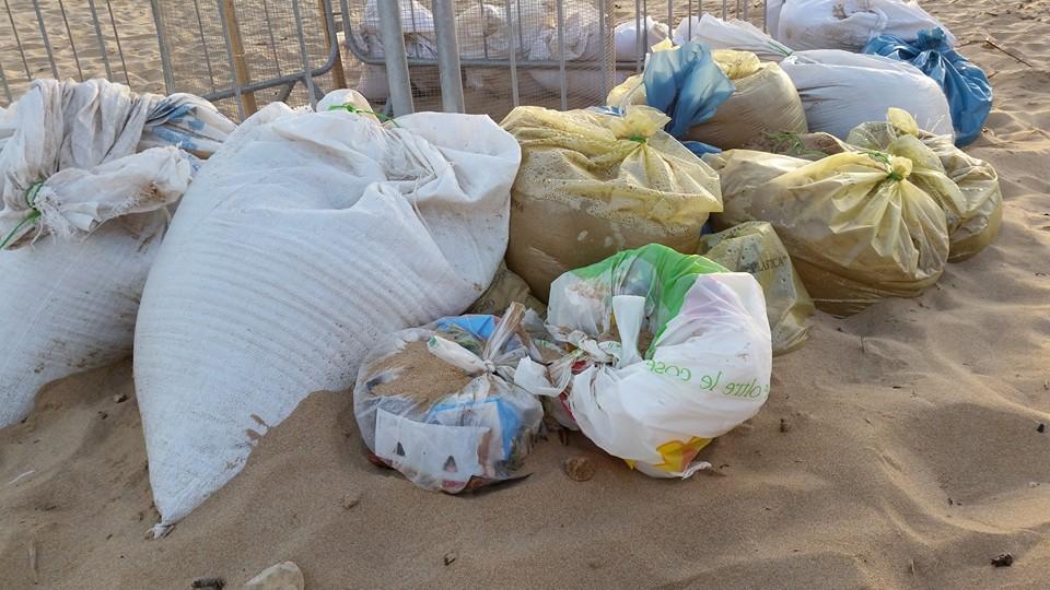 La spazzatura al nido di Tarty (foto da Facebook)
