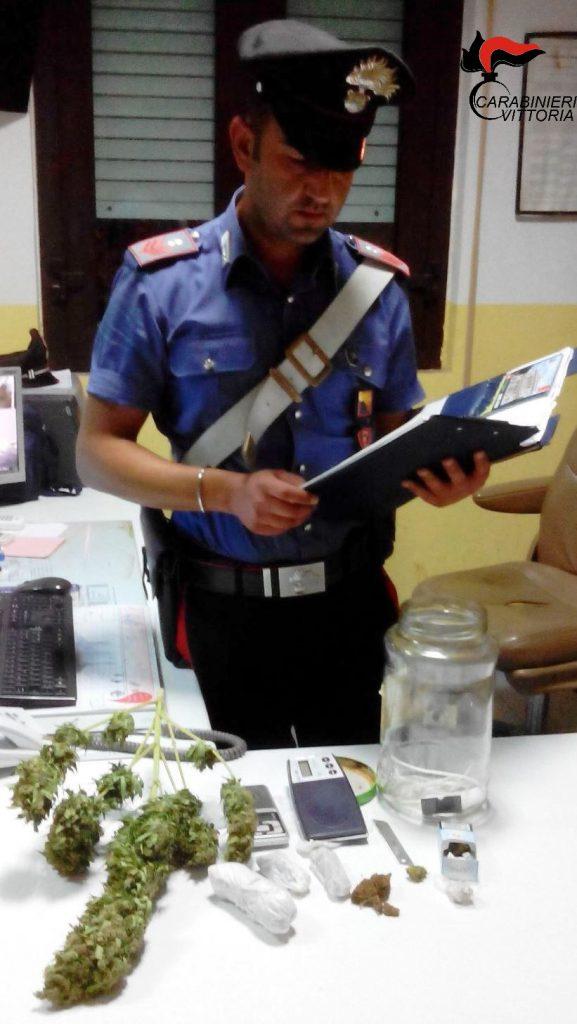 Vittoria (RG) Carabinieri droga