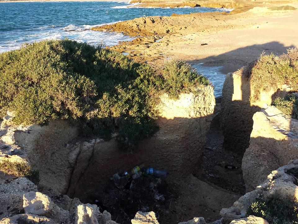 La trincea di Punta Braccetto