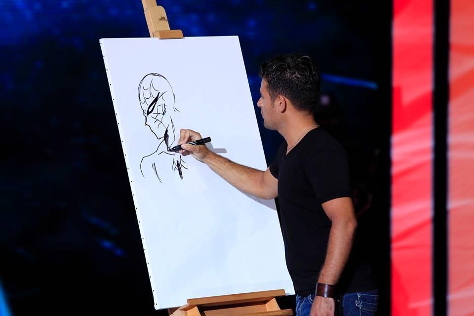 Su Canale 5 il talento di Salvatore Piazza: il fumettista santacrocese strega la giuria di 'Tu sì que vales'