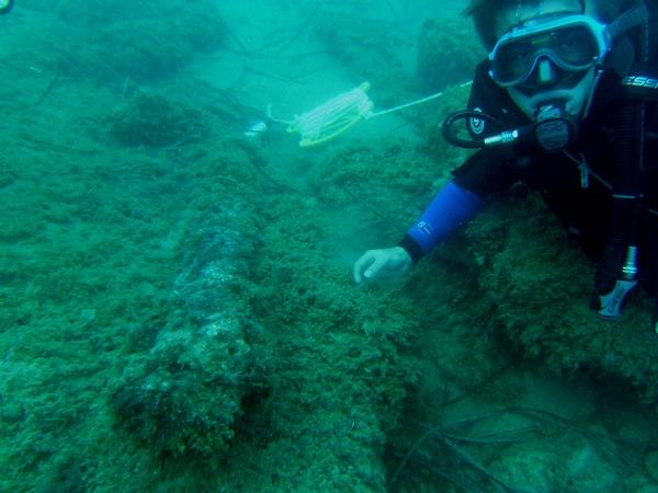 """Rivenuta un'ancora bizantina nelle acque del Palmento: """"Mare ricco di storia, serve un museo"""""""