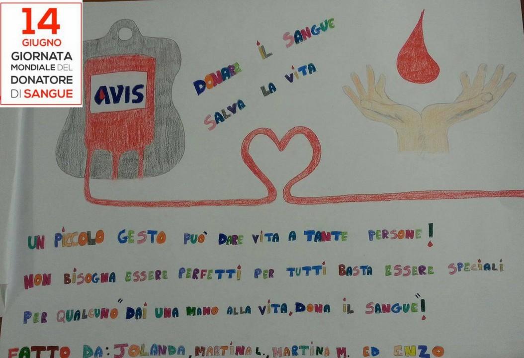 Giornata mondiale del donatore, l'Avis ringrazia gli studenti per i disegni