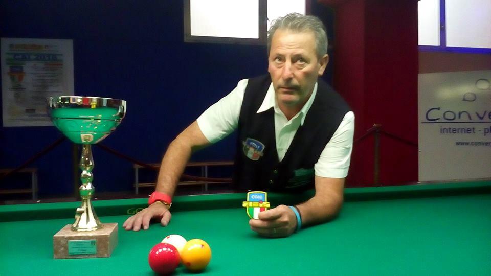 Guglielmo Russino campione italiano di carambola: trionfo a Battipaglia