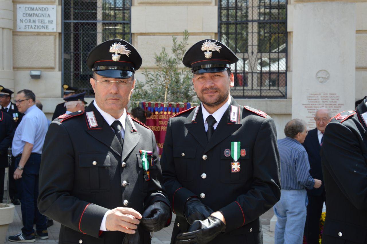 Carabinieri, festa per i 203 anni: encomio a Mandarà e stazione Santa Croce