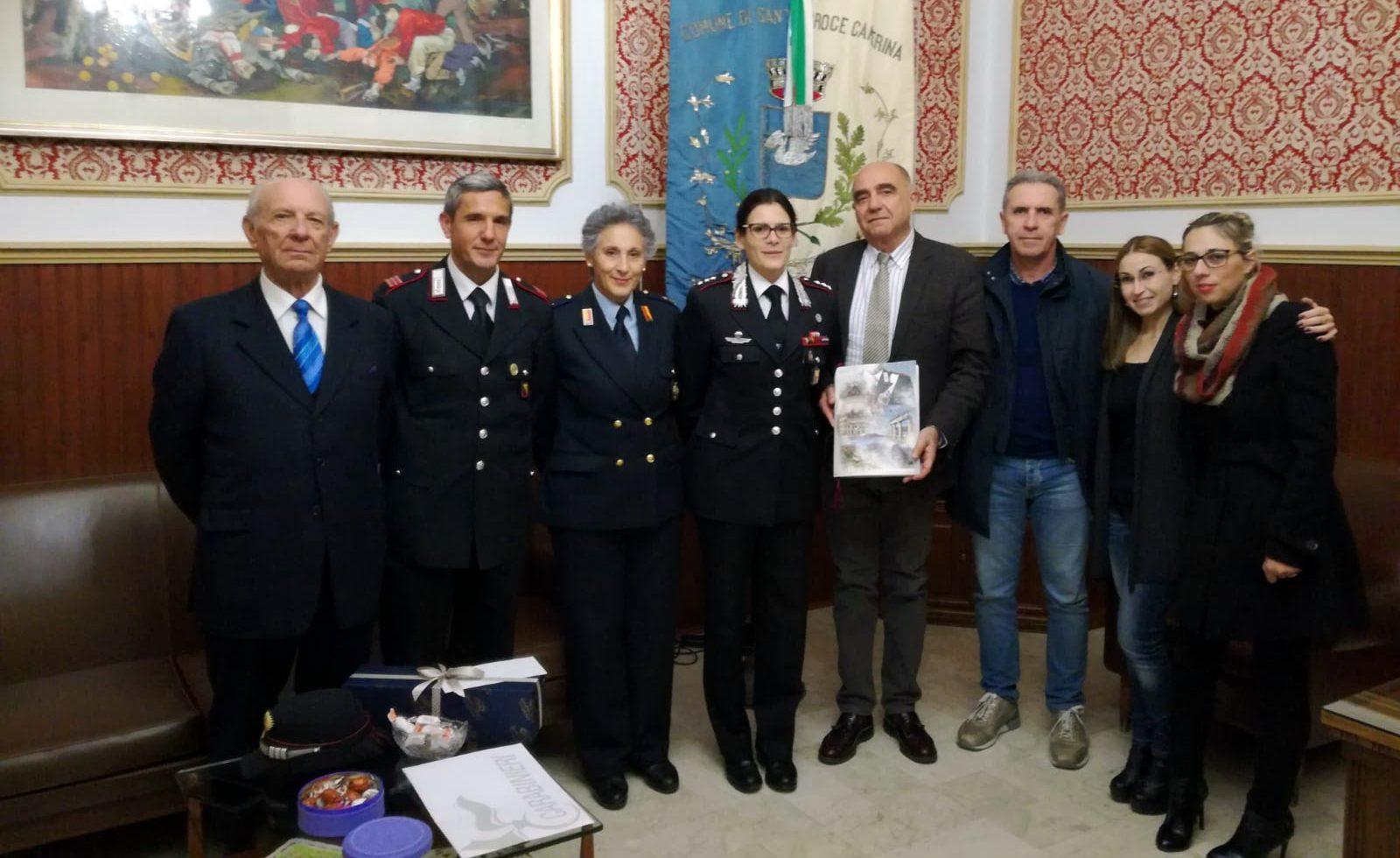 """Il capitano dei carabinieri di Ragusa in visita al comune: """"Legalità sia il faro"""""""