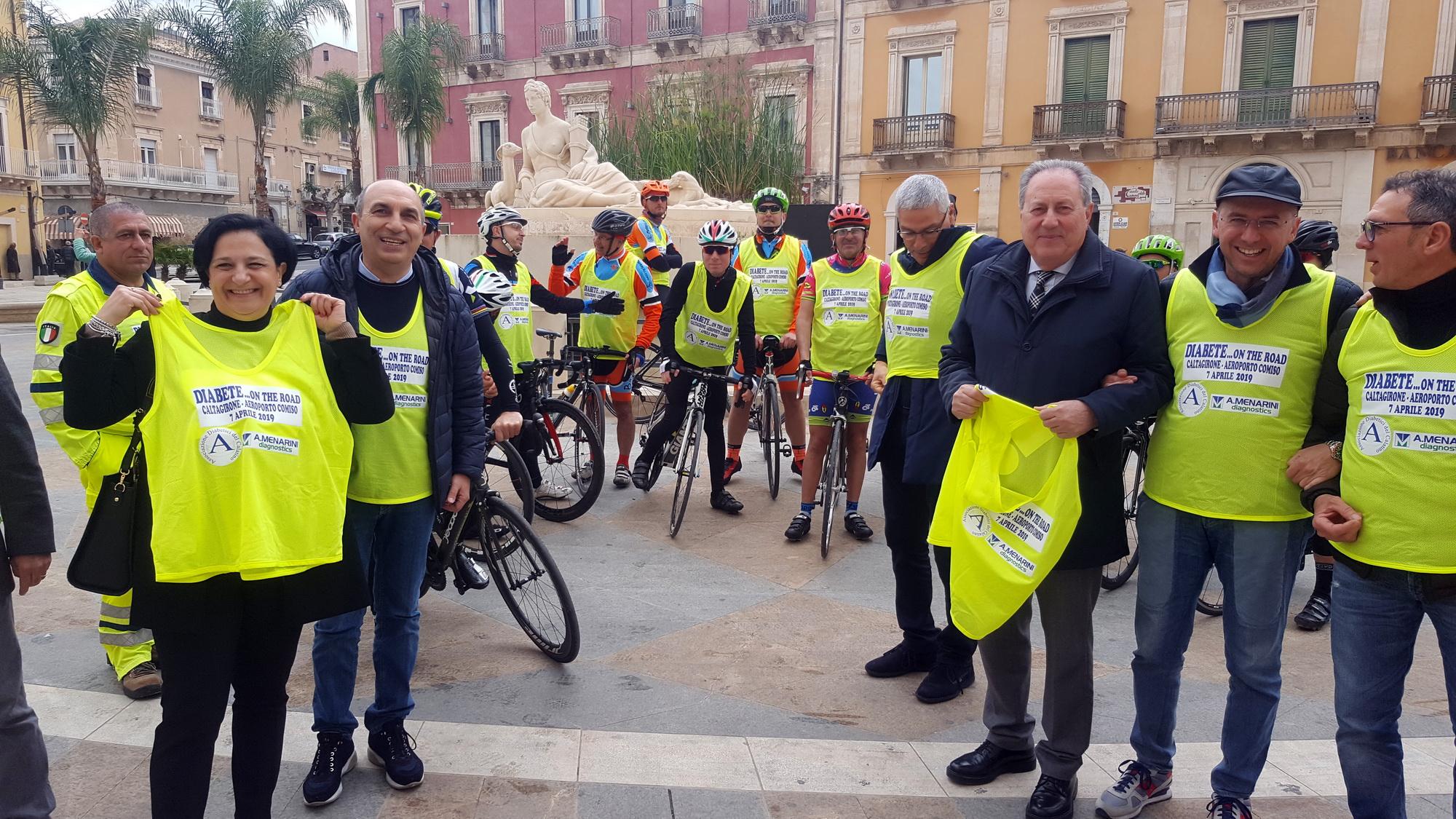 Lotta contro il diabete: in bici da Caltagirone all'aeroporto di Comiso