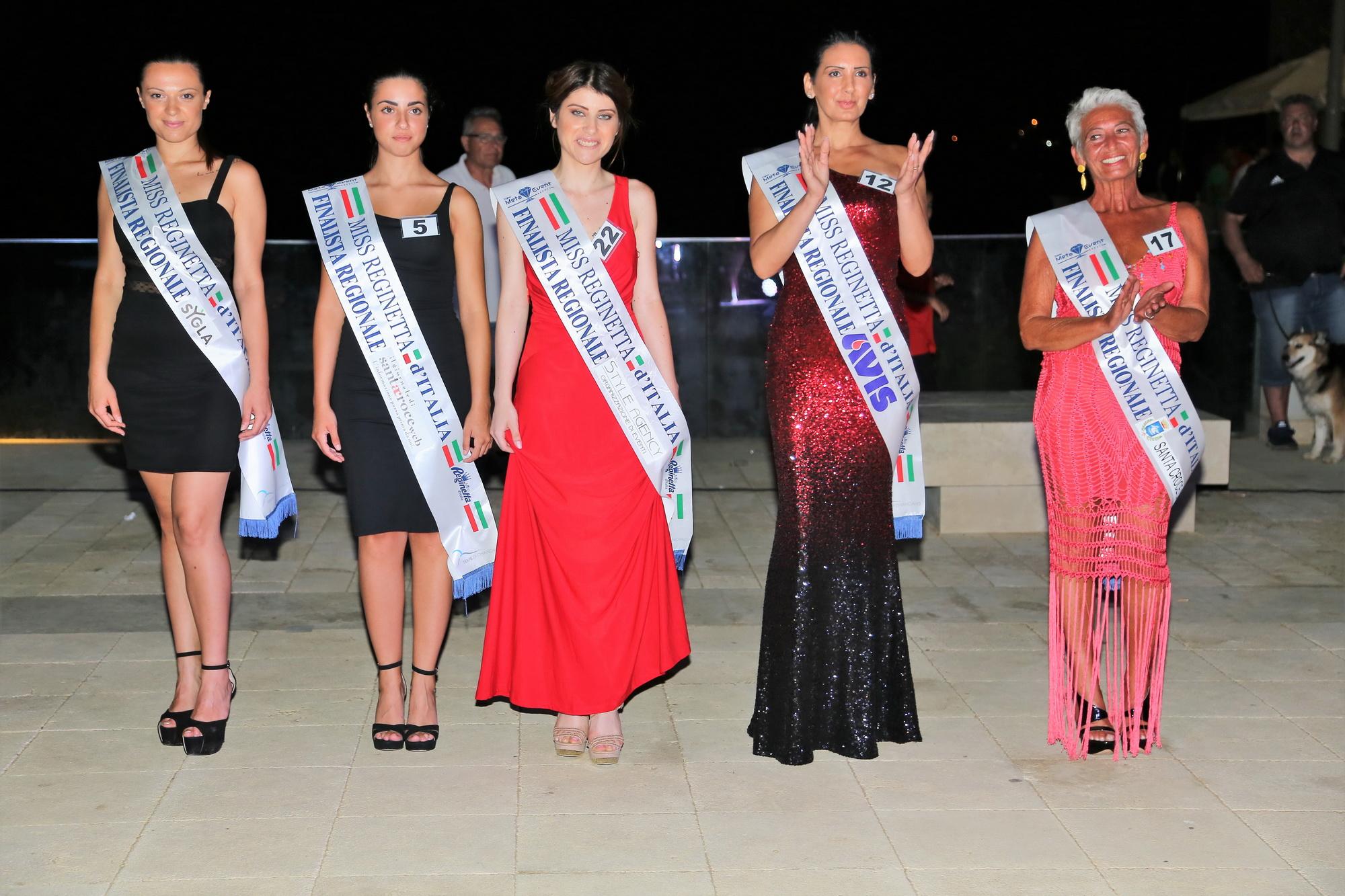 Miss Reginetta d'Italia, la selezione regionale ha fatto tappa a P.Secca