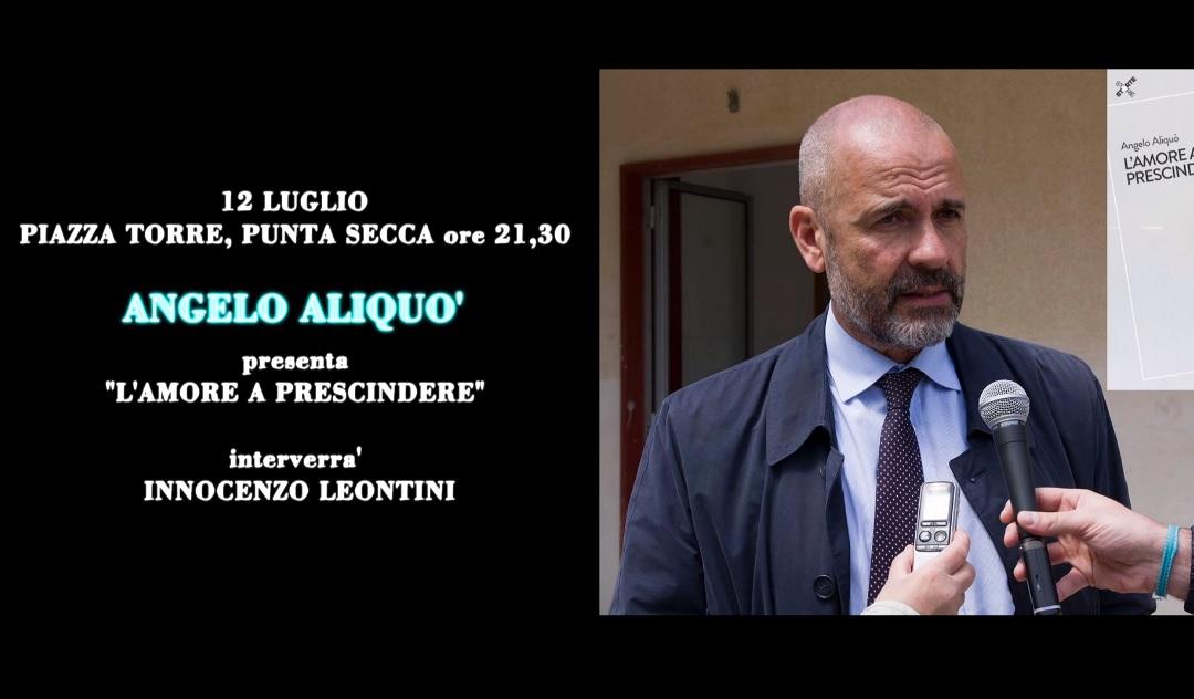 """""""L'amore a prescindere"""": venerdì in piazza Torre c'è Angelo Aliquò"""
