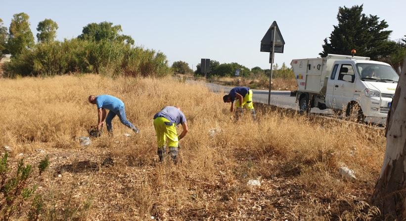 Una domenica per l'ambiente: ripulita un'area in contrada Canestanco