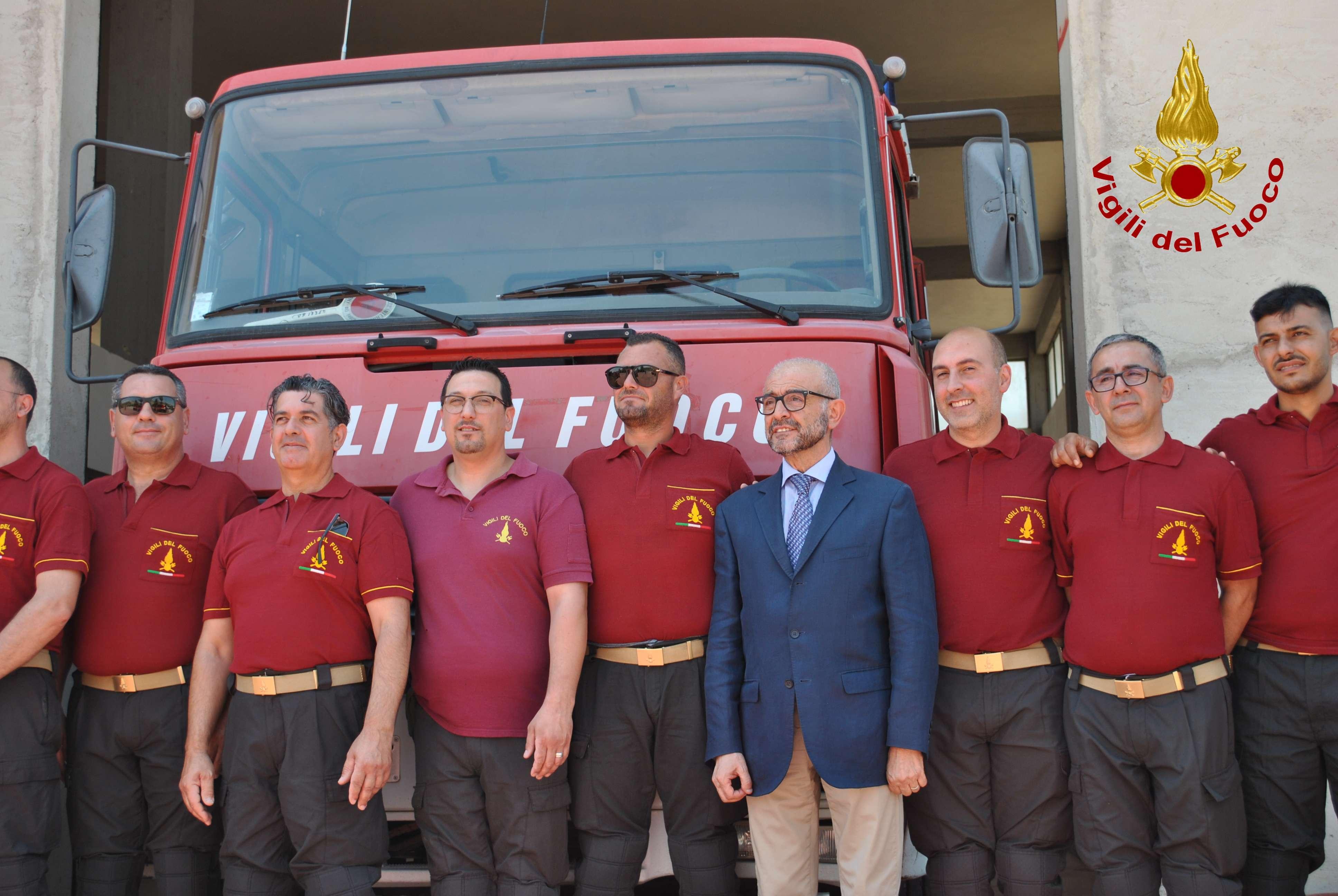 I pompieri traslocano al mercato ortofrutticolo causa lavori