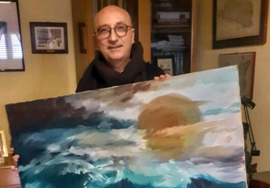 Asta benefica per un quadro di Gianni Giacchi: i proventi all'Avis di S.Croce