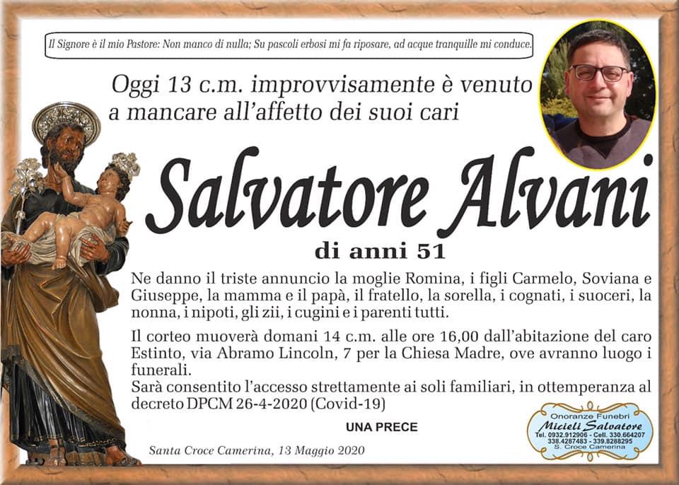 L'ultimo saluto a Salvatore Alvani: il sindaco proclama lutto cittadino