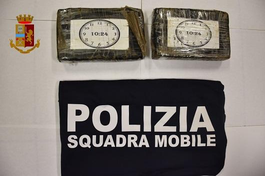 Ragusa – Sequestrati 2,3 kg di cocaina per un valore di oltre 700 mila euro. Un arresto