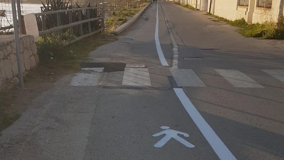 Si allunga per 2 chilometri la pista pedonale sul tratto P.Secca-Caucana