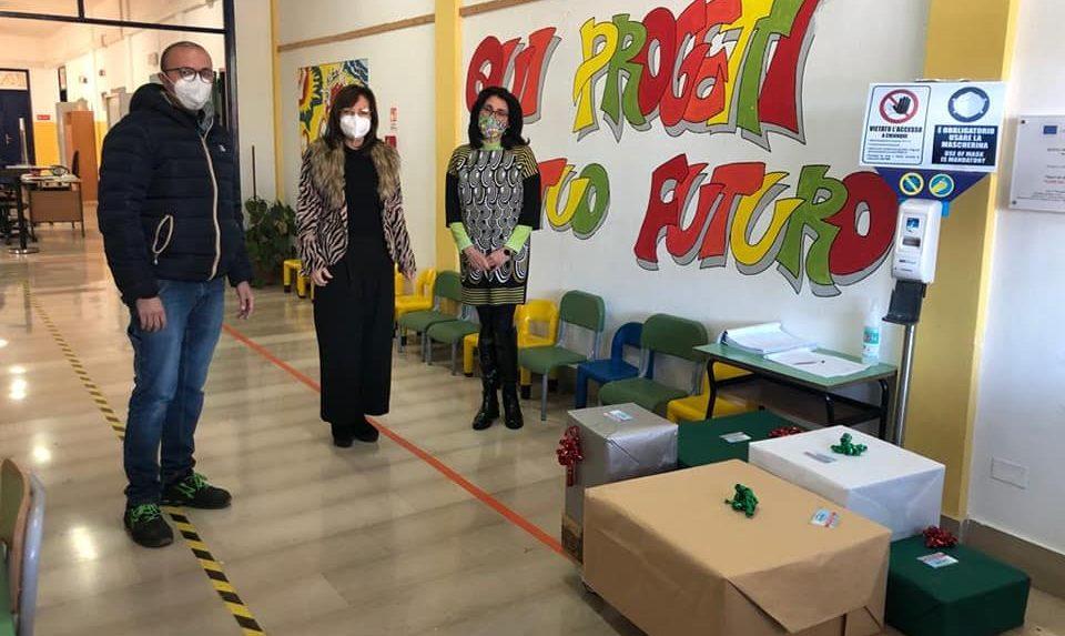 Provviste per la scuola: donazione di ASTRA all'istituto Psaumide