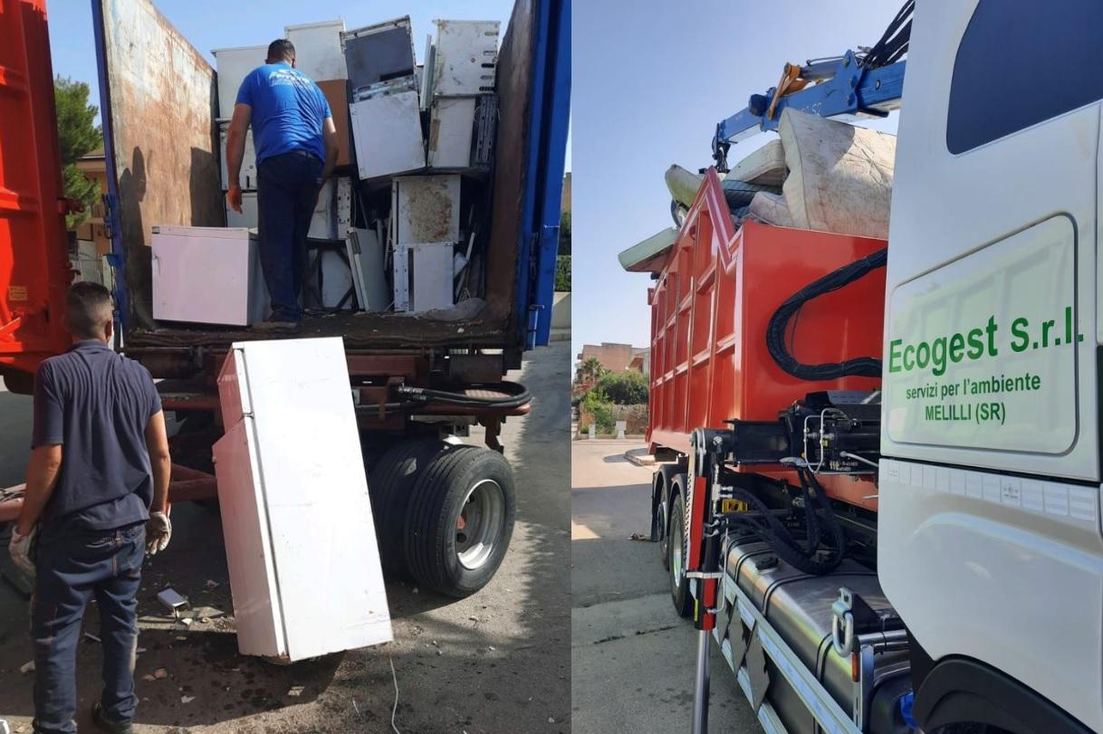 L'ex Provincia rimuove 5 tonnellate di rifiuti ingombranti a S.Croce